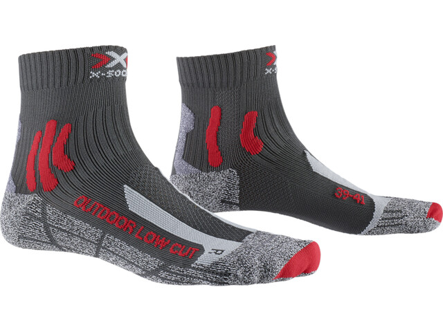 X-Socks Trek Outdoor Chaussettes Homme, anthracite/red